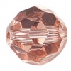 "Glass Round Facetted 8mm 16"" Strung Half Coated Copper"